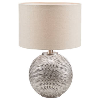 Polyresin and Fabric Table Lamp