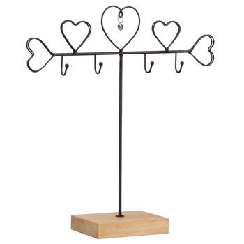 Metal Hearts Jewelry Stand