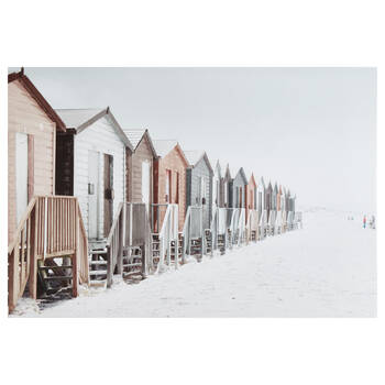 Beach Houses Printed Canvas