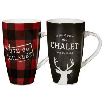 Set of 2 Vie au Chalet Mugs