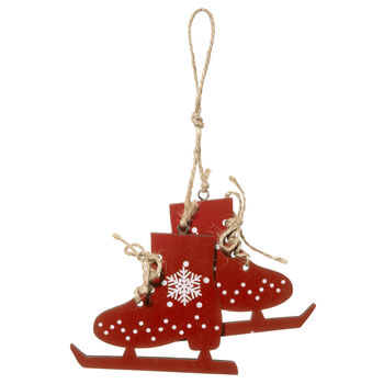Wooden Skates Ornament