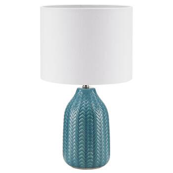Lampe de table en céramique et en lin
