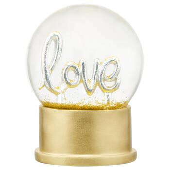 Gold Love Glitter Globe