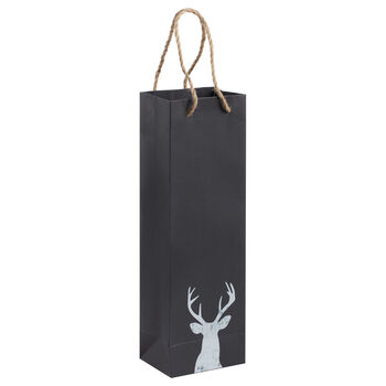 Chalkboard Deer Paper Wine Bag