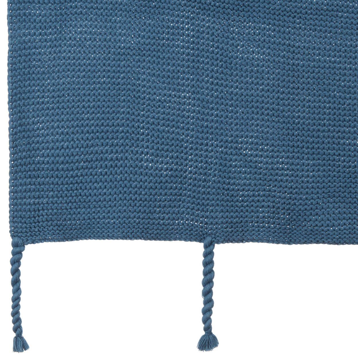 """Eddie Heavy-Knit Blue Throw 40"""" X 50"""""""