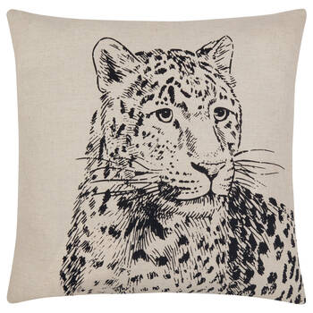 "Leopard Decorative Pillow Cover 18"" X 18"""