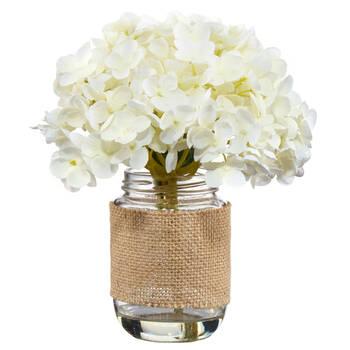 Decorative Flowers in a Jar