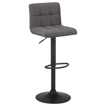 Tufted Fabric and Metal Bar Stool