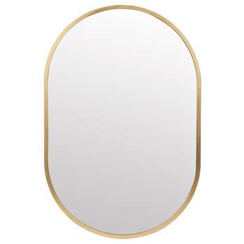 Miroir ovale avec cadre doré