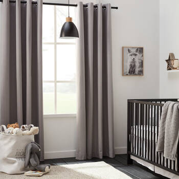 Linen-Like Blackout Curtain