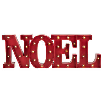 Decorative Word Noel with LED Lights