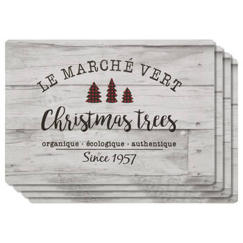 Set of 4 Christmas Market Placemats