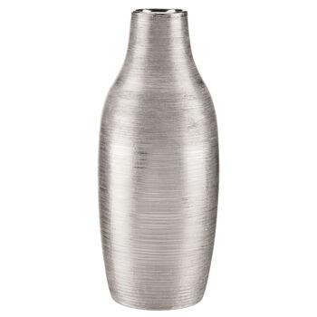 Vase de table en céramique rayée