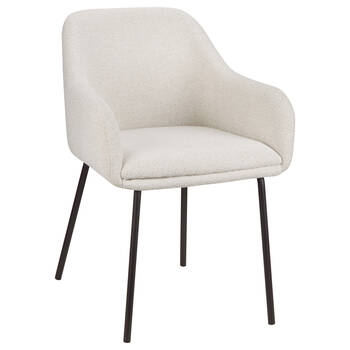 Fabric and Metal Dining Chair