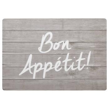Ensemble de 4 napperons Bon Appétit en PVC