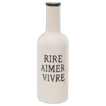 Vase de table en céramique avec typographie