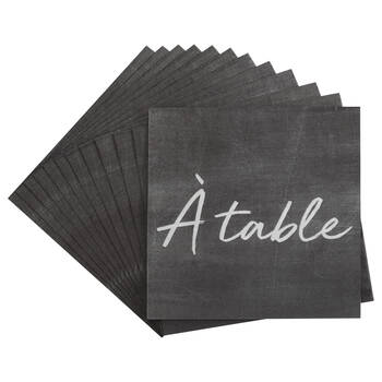 Pack of 20 Slate Paper Napkins