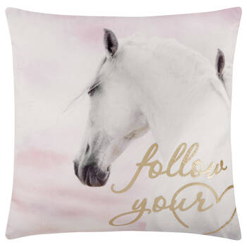 "Follow Your Heart Decorative Pillow 18"" X 18"""