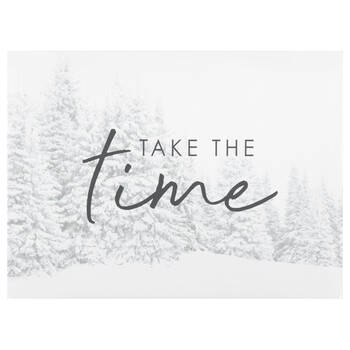 Take the Time Printed Canvas