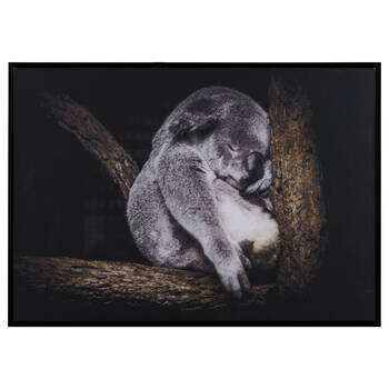 Sleeping Koala Printed Framed Art