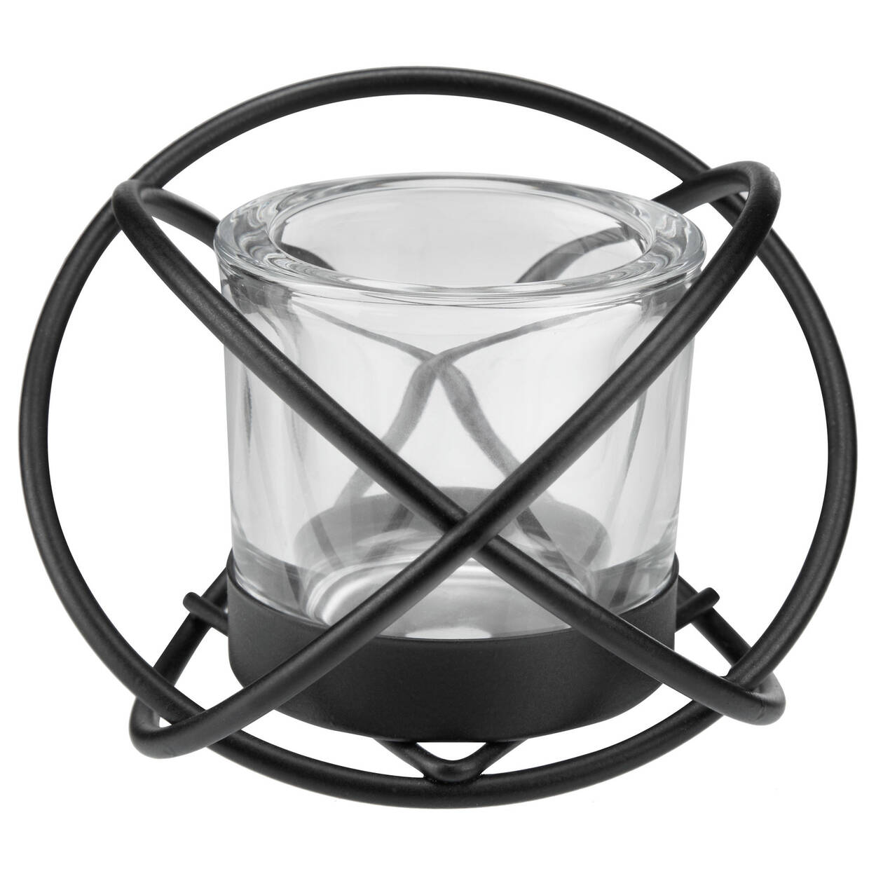 Porte bougie en tige de fer et en verre for Porte en fer et verre
