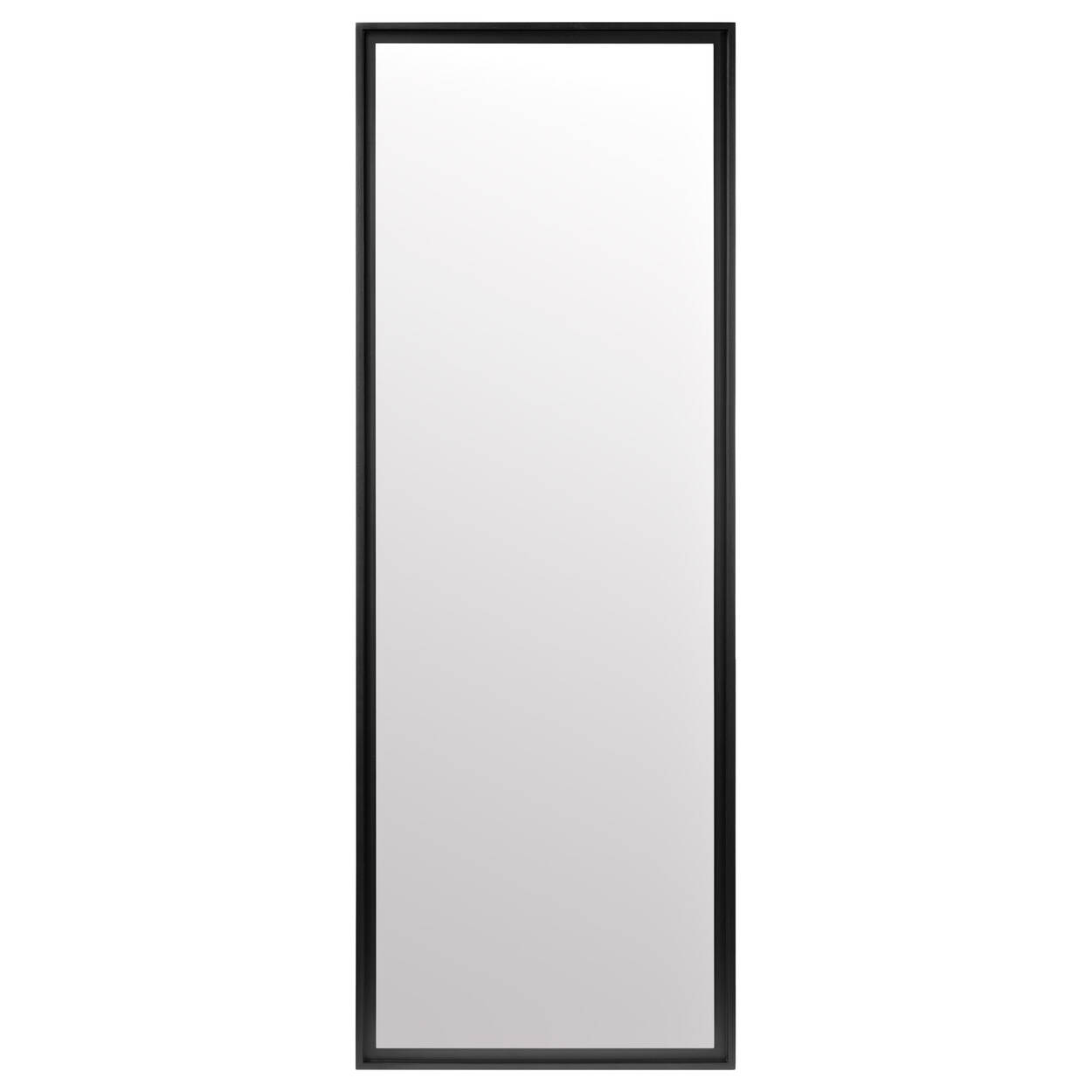 Full-Size Mirror with Wooden Frame
