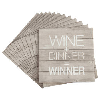 Set of 20 Winner Table Napkins