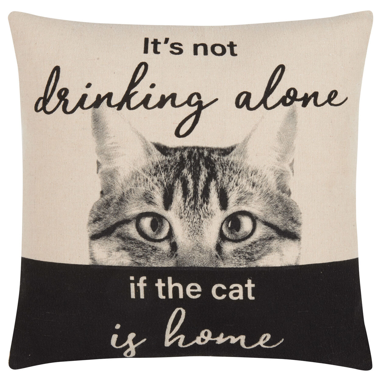 """Drinking Alone Decorative Pillow Cover 18"""" X 18"""""""