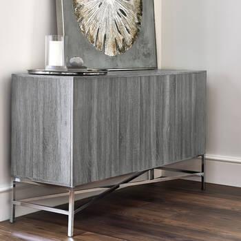 Buffet en métal et fini bois de vinyle