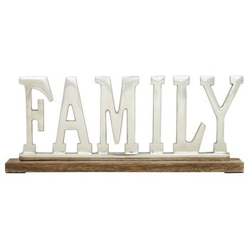 Decorative Aluminum Word Family
