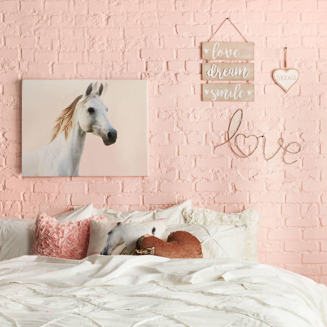 "Luna Heart-Shaped Sequined Decorative Pillow 15"" X 16"""