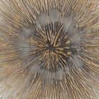 Gold Starburst Oil Painted Round Canvas