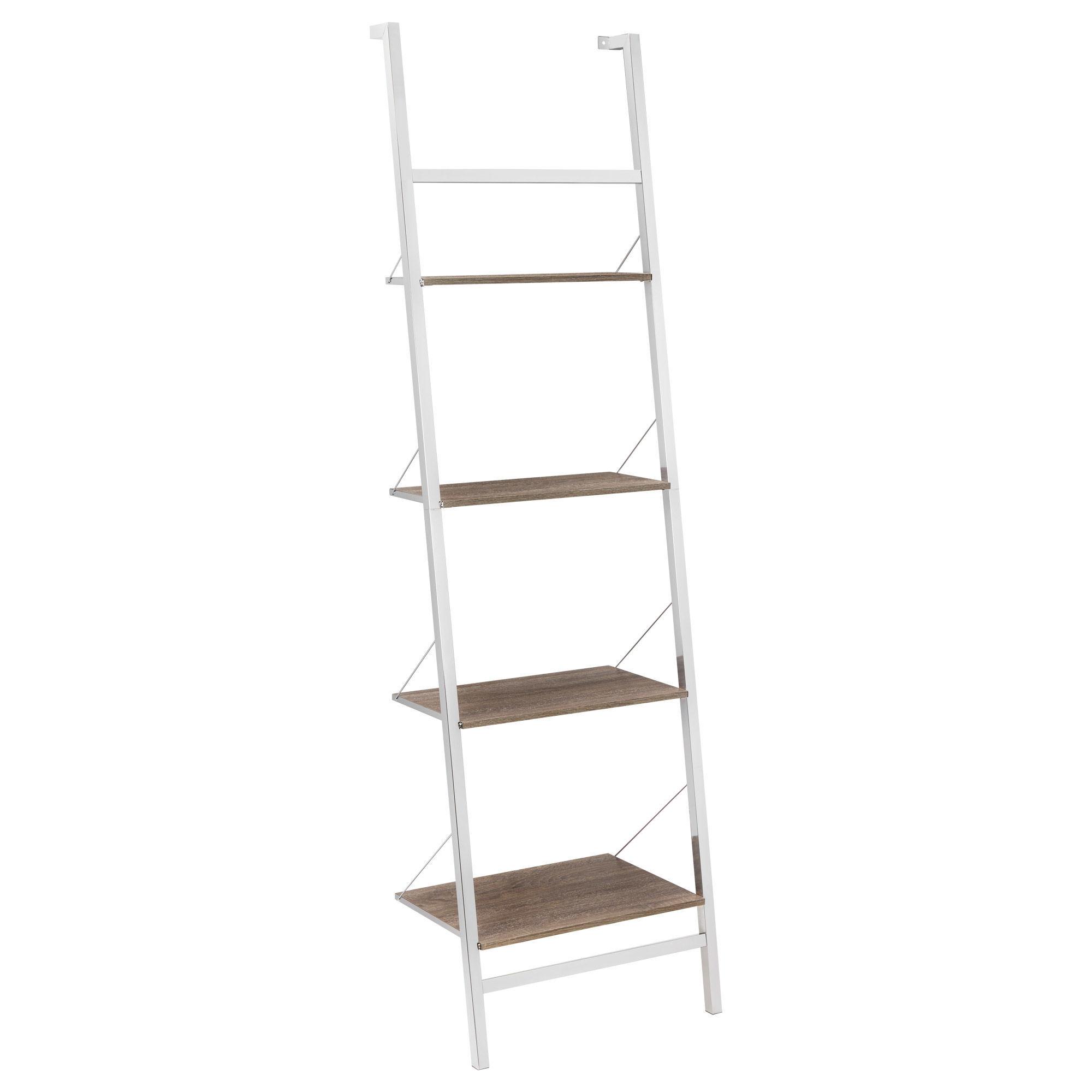 Four Tier Wall Ladder Shelf