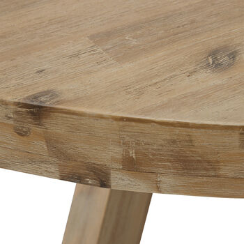 Round Acacia Wood Dining Table
