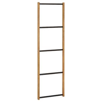 Porte-serviette échelle en bois et en métal