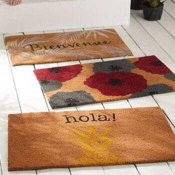 Bienvenue Tropical Doormat