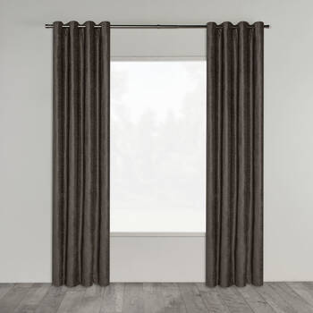 Elsee Crushed Velvet Panel Curtain