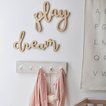 Set of 2 Wooden Play Dream Wall Decor