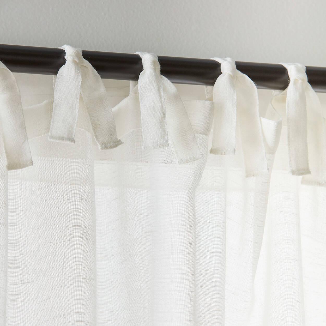 Jessica Tie Top Sheer Curtain Bouclaircom