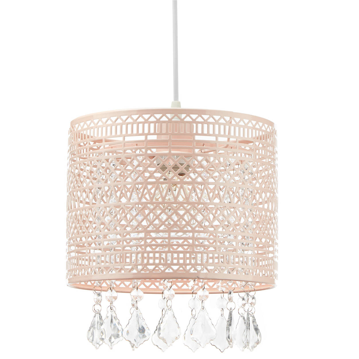 Cut-Out Ceiling Lamp with Decorative Droplets