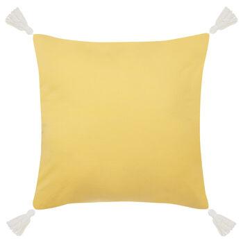 "Melissa Decorative Pillow With Pom-Poms 16"" X 16"""