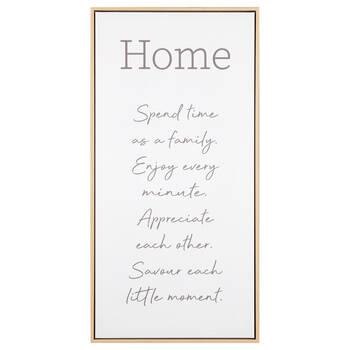 Home Typography Framed Art