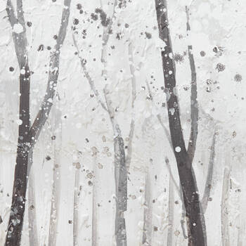 Winter Forest Oil Painted Canvas
