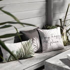 "Palm Leaves Water-Repellent Decorative Pillow 18"" X 18"""