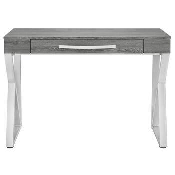 Bureau en bois plaqué et en chrome
