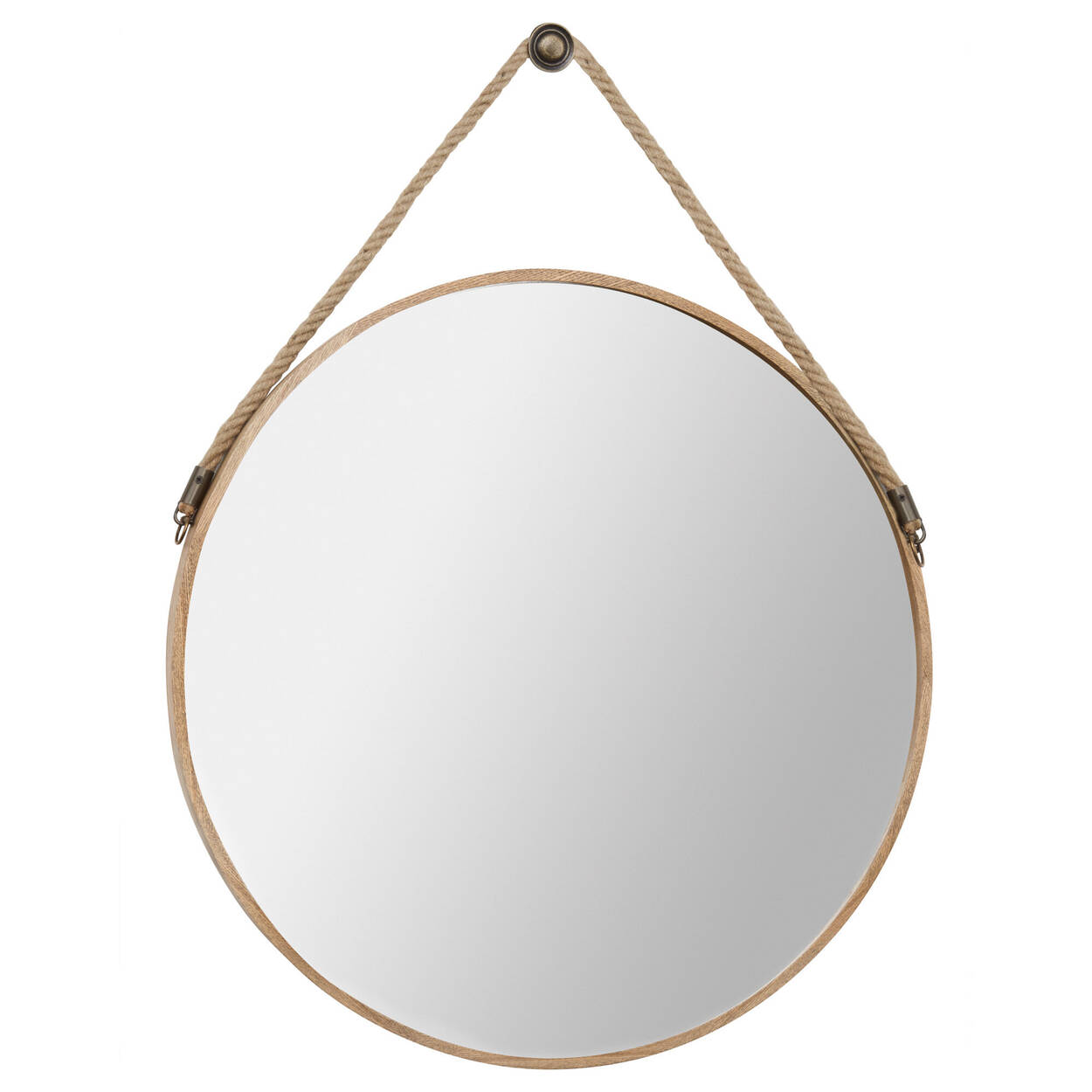 Round Hanging Mirror with Hook