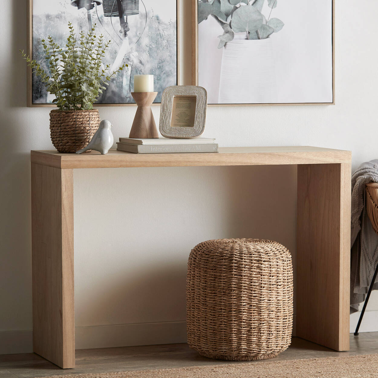 Natural Wood Console