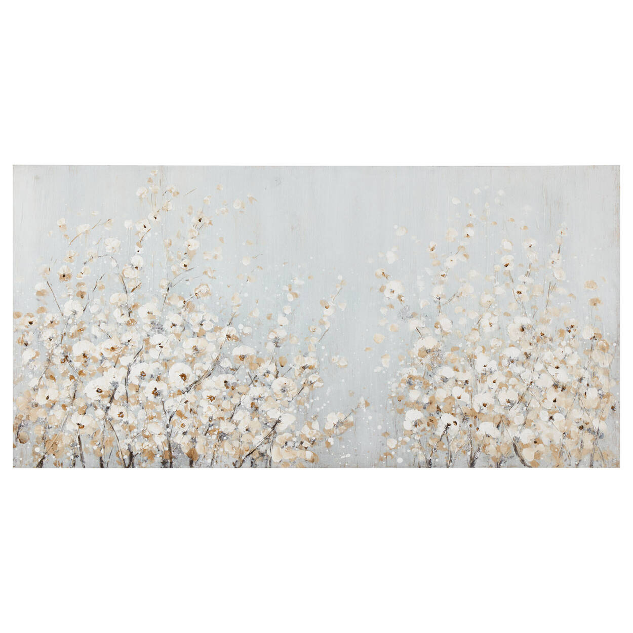 Oil-Painted Field of Flowers Canvas
