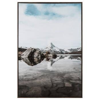 Cadre imprimé escapade en montagne
