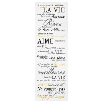 Tableau typographie Vie